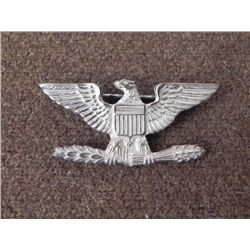 WWII COLONEL & NAVY CAPTAIN INSIGNIA-STERLING