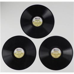 """3 RECORDS 78'S 1951 """"LONE RANGER"""" PARTS 1 & 2"""