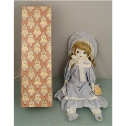 Mitzi 18 In. Porcelain Music Box Doll by Enesco MIB