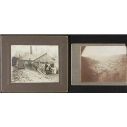 2 Antique Photographs Group Portrait American Rural