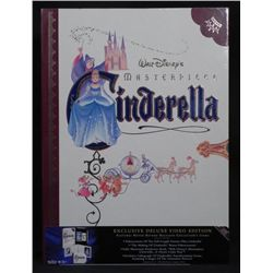 Cinderella Disney Deluxe Video w/ Art Prints, Book MIB
