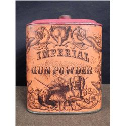 Antique Civil War Gun Powder Tin Eureka Powder Works