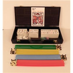 Vintage Mahjong Game Set in Case 166 Tiles Mah Jongg
