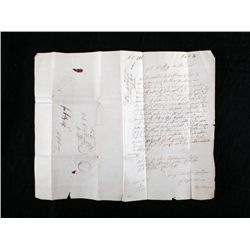 1860 Antique Original Hand Written Debt Letter Germany
