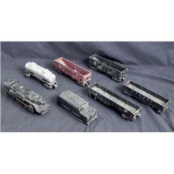 7 Pc Lionel Vintage Train Cars, Engine Model Railroad