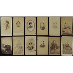 12 Antique CDV Photographs Young and Older Women