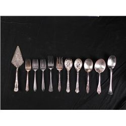 11 Pc Set Silverplate, Stainless Servingware Rogers