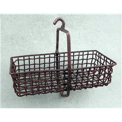 Antique Metal Hanging Kitchen Basket