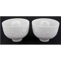 2 Rosenthal Wiinblad Porcelain Candle Holders w/ Girls