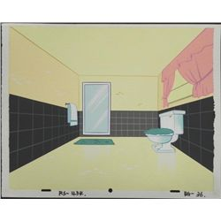 Ren & Stimpy Orig Production Background Art Bathroom