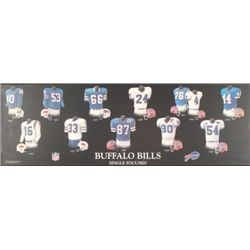 Buffalo Bills Jersey History Picture Plaque 1960-2000