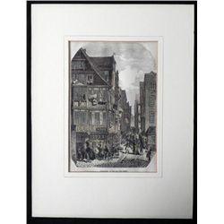 Francfort La rue des Juif Antique Art Print France
