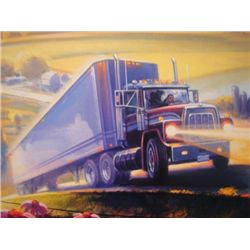 Print Carlo Beninati LAND OF LINCOLN Signed Truck Art