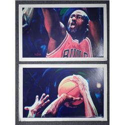 Michael Jordan 2 Pc Canvas Art Printer Proof -Beninati