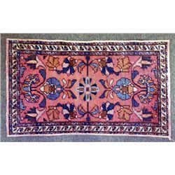 Vintage Oriental Small Wool Patterned Rug