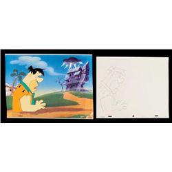 Fred Animation Drawing Art Flintstones Original Cel