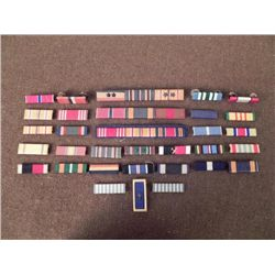 32 US VINTAGE RIBBON BARS, MOSTLY WWII
