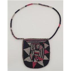 Yoruba Diviner's Bag Beaded Purse w/ Lizard -Africa