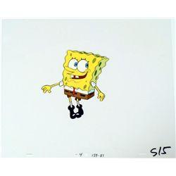 Original Production Cel SpongeBob Art Funny Stance
