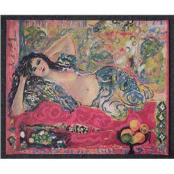 Judith Bledsoe Signed Art Proof Print Reclining Female