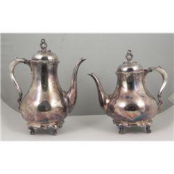 Reed & Barton Provincial Silverplate Tea & Coffee Pot
