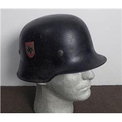 WWII Nazi Salt & Pepper Shaker Dome Police  Helmet