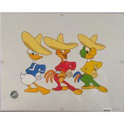 Disney's Three Happy Chappies Sericel Donald Duck