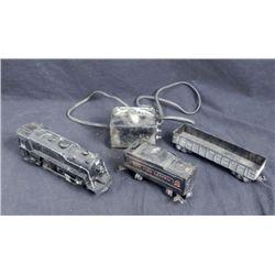 4 Pc Marx Vintage Train Cars, Engine, Transformer