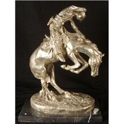 Frederic Remington Sculpture Cowboy on Horse
