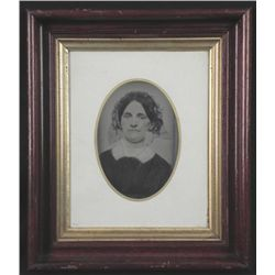 Antique Photo in Walnut Victorian ShadowBox Frame