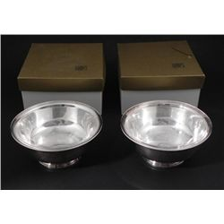 2 Gumps Gorham Silver Plated Bowls -In Orig Boxes