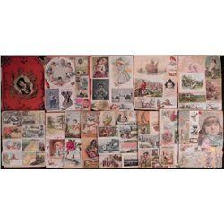 Antique Advertisement & Picture Collection Scrapbook