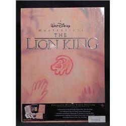 Lion King Disney Deluxe Video w/ Art Prints, Book MIB