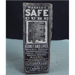 Warners Safe Cure Antique Medicine Bottle w/ Box