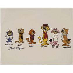 Top Cat, Gang Named Signed Orig Model Cel Animation Art