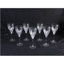 Seven Di Vinci Crystal Wine Glasses