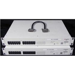 2 Alcatel OmniStack 6024 24-Port Switches