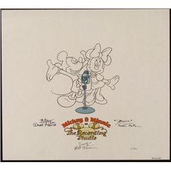Disney Mickey Minnie Voice Signed Sericel Animation Art