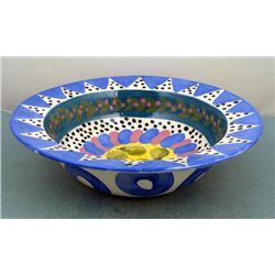 Lynn Morris Hand Painted Ceramic Pear Fruit Bowl
