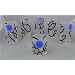 6 Pc Stylish Modern Art Drinking Glasses