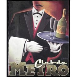 Michael L. Kungl Art Deco Print on Canvas Club de Metro