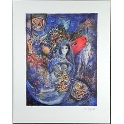 Marc Chagall Moonlight Bouquet Art Print