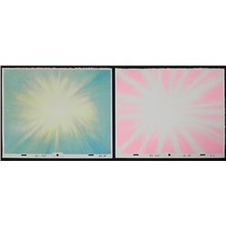 2 Ren & Stimpy Orig Production Backgrounds Color Bursts