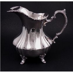 Poole Silver Plated Water Pitcher Lancaster Rose 401A