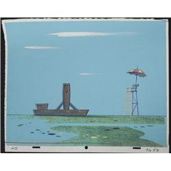 Reb & Stimpy Original Production Background Seaside