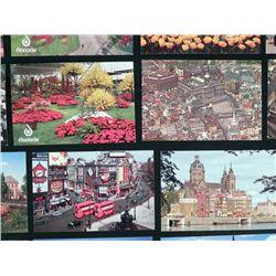 19 Vint Postcards Amsterdam Floriade Flower Show,London