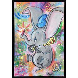 Dick Duerrstein Original Art Painting Dumbo Pop Art