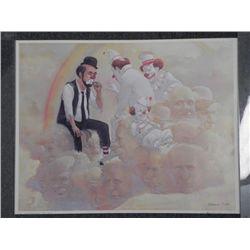 Robert Owen Clown Print -Pot at the End of the Rainbow