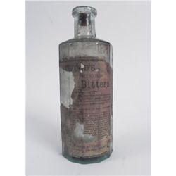 Atwoods Jaundice Bitters Old Medicine Bottle w/Label