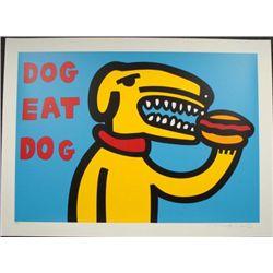 MARCO Pop Art DOG EAT DOG BLUE Print Wild and Wacky
